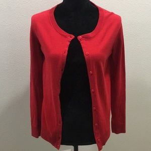 Solid Red cardigan for Fall!